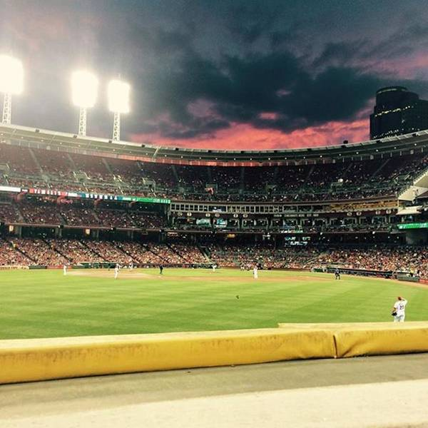 Wall Art - Photograph - Sunset At A Reds Game by Erin Mintchell