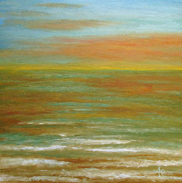 Painting - Sunset At The Salt Marsh by Angeles M Pomata