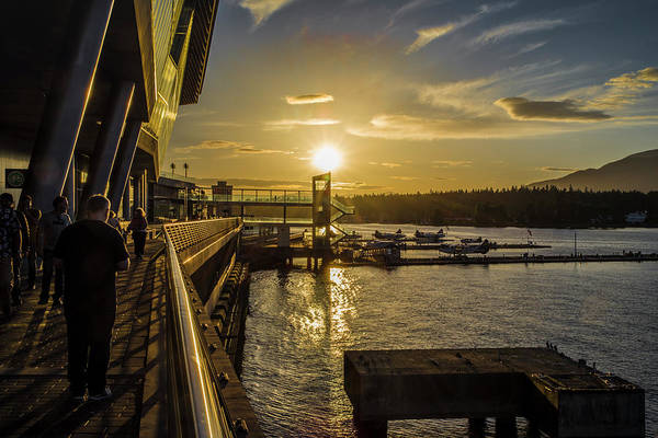 Photograph - Sunset At The Seaplane Terminal by Ross G Strachan