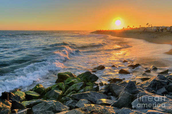Photograph - Sunset At The Wedge by Eddie Yerkish
