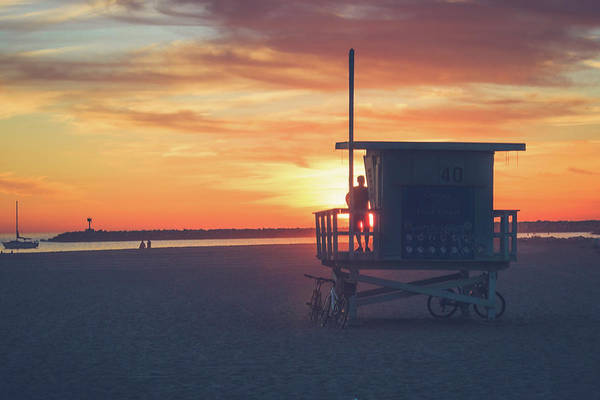 Sunset At Toes Beach Art Print