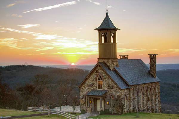 Photograph - Sunset At Top Of The Rock - Branson Missouri by Gregory Ballos