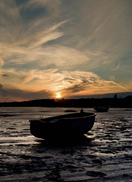 Leigh On Sea Photograph - Sunset At Two Tree Island by Iain Phillips