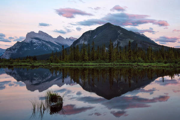 Canadian Rockies Wall Art - Photograph - Sunset At Vermillion Lakes, Banff Canada by Dave Dilli