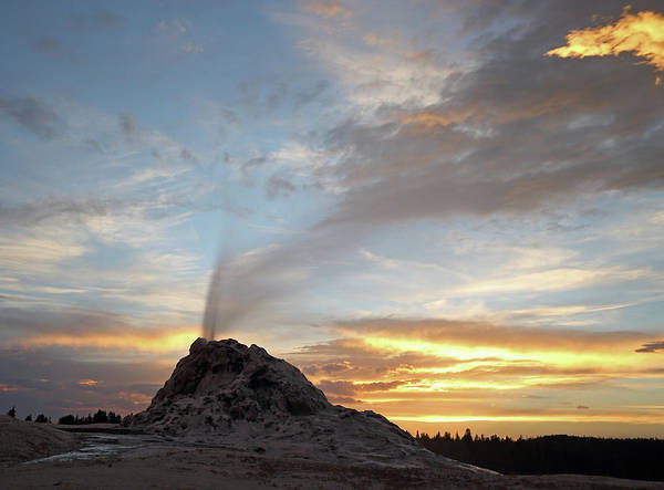 Photograph - Sunset At White Dome Geyser by Jean Clark