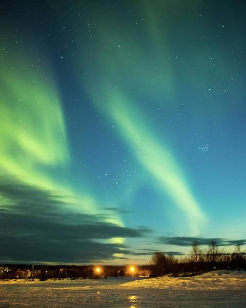 Photograph - Sunset Aurora On Lake Inari Finland by Adam Rainoff
