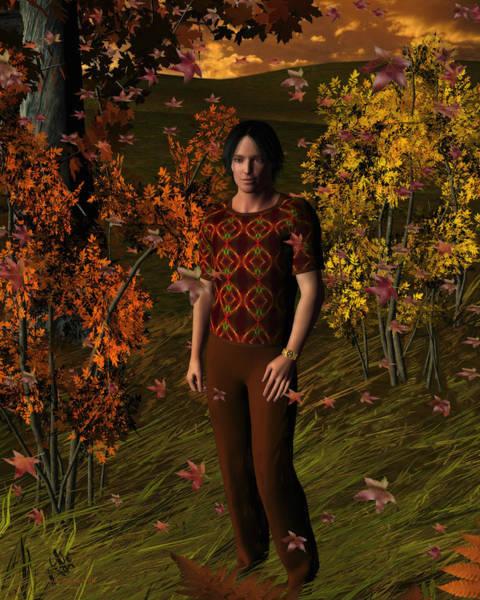 Digital Art - Sunset Autumn Walk by Judi Suni Hall
