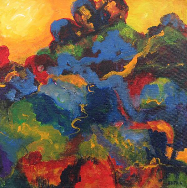 Wall Art - Painting - Sunset by Barbara Lipkin