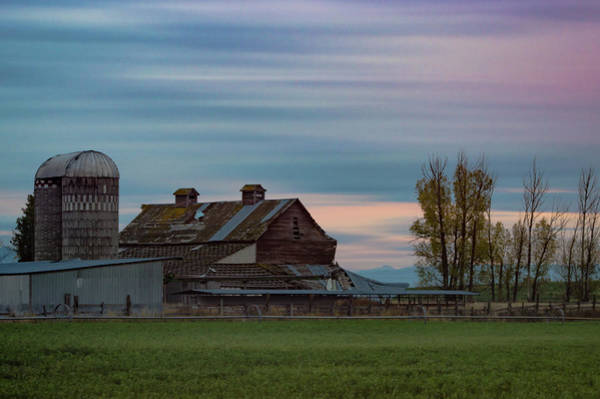 Photograph - Sunset Barn by Jedediah Hohf