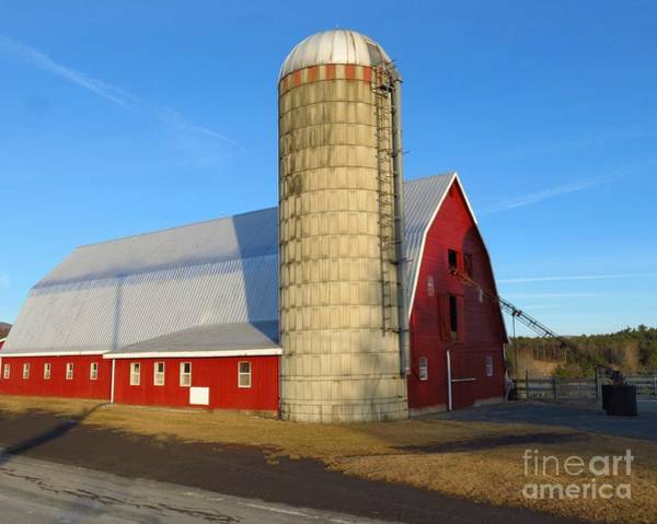 Photograph - Sunset Barn With Silo by Donna Cavanaugh