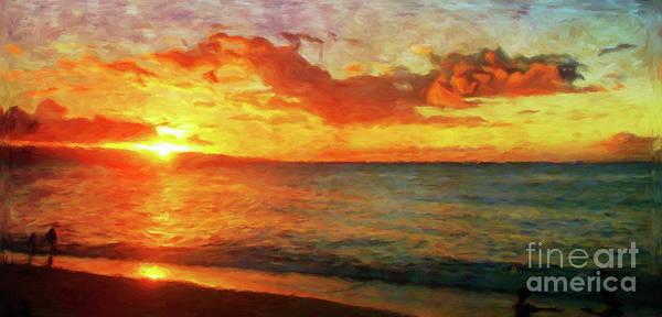 Wall Art - Photograph - Sunset Beach by Jerome Stumphauzer