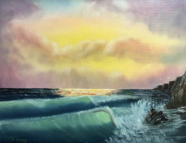 Painting - Sunset Beach by Thomas Janos