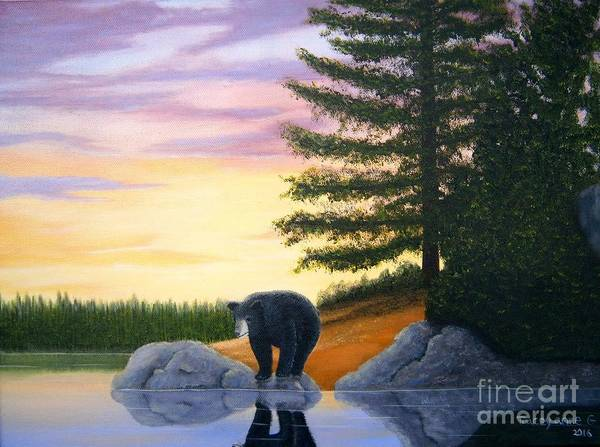 Painting - Sunset Bear by Tracey Goodwin