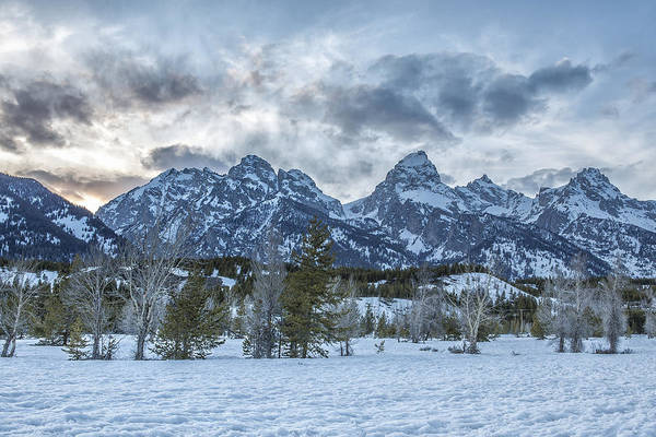 Photograph - Sunset Behind The Tetons by Belinda Greb
