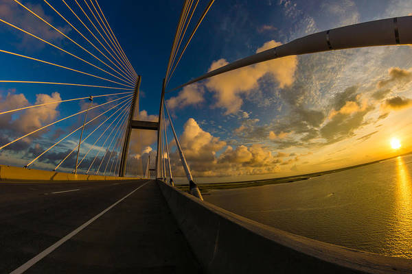 Photograph - Sunset Between Mighty Cables by Chris Bordeleau