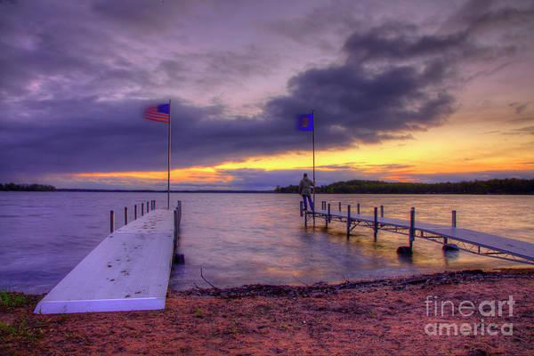 Photograph - Sunset Big Sandy Camp Minnesota Governors Fishing Opener 2016 by Wayne Moran