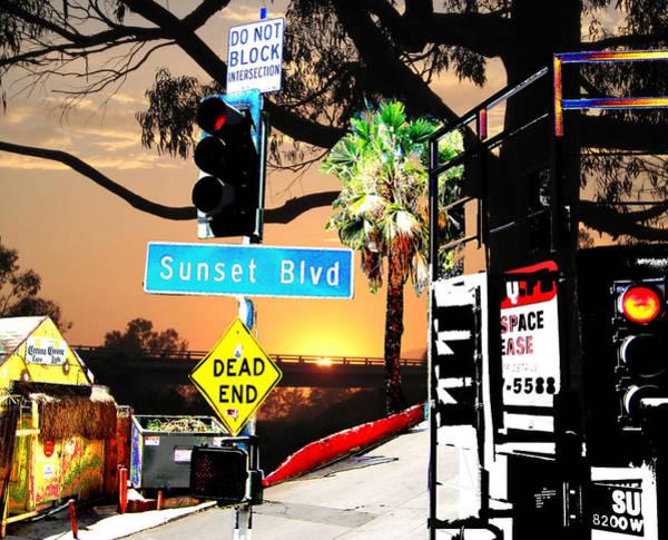 Sunset Blvd Meets Sunset Art Print by Maria Kobalyan