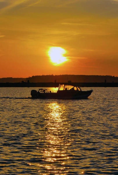 Photograph - Sunset Boat by Brian O'Kelly