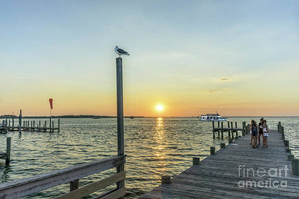 Choctawhatchee Bay Photograph - Sunset Tour Boat Off Dewey Destin Fl Pier 1186a by Ricardos Creations