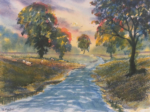 Painting - Sunset Boulevard by Glenn Marshall