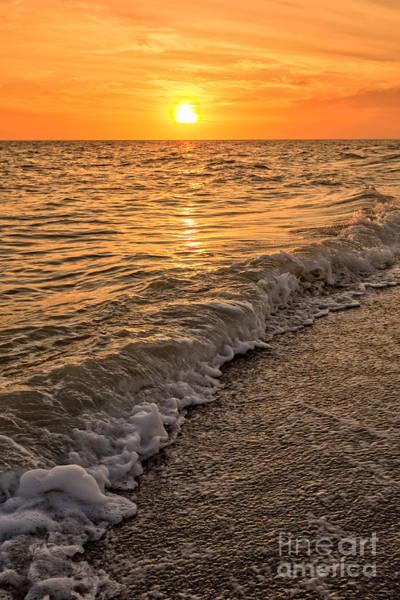 Condos Photograph - Sunset Bowman Beach Sanibel Island Florida  by Edward Fielding