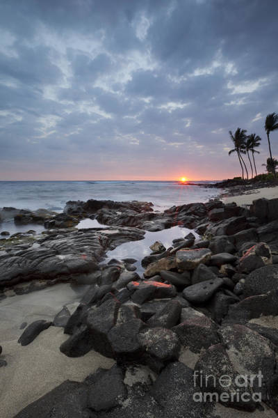 Photograph - Sunset Burst Over Kona Hawaii by Charmian Vistaunet