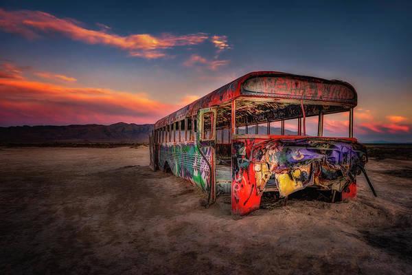 Photograph - Sunset Bus Tour by Michael Ash