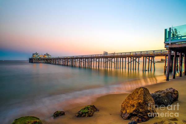 Malibu Photograph - Sunset By Malibu Pier by Art K