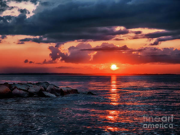 Photograph - Sunset By The Jetty by Mark Miller
