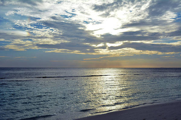 Photograph - Sunset By The Sea In Maldives With Cloudy Sky by Oana Unciuleanu