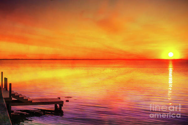 Wall Art - Digital Art - Sunset By The Shore by Randy Steele