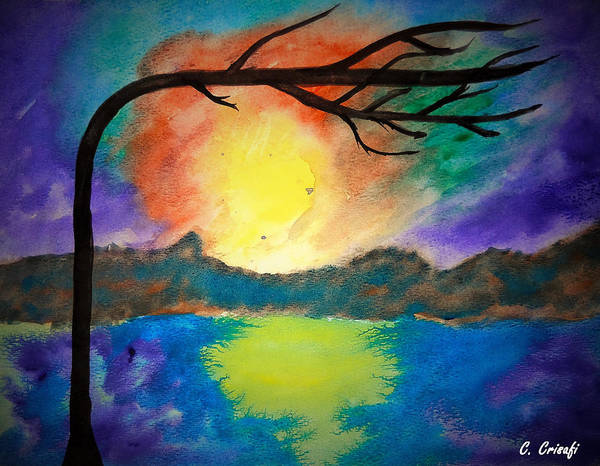 Painting - Sunset by Carol Crisafi