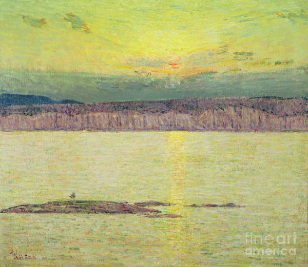 Sunny Painting - Sunset by Childe Hassam