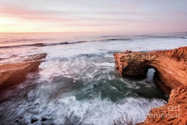 Photograph - Sunset Cliffs Rush by David Levin