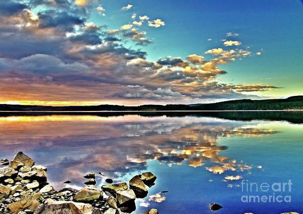 Photograph - Sunset Cloud Reflections by Martyn Arnold