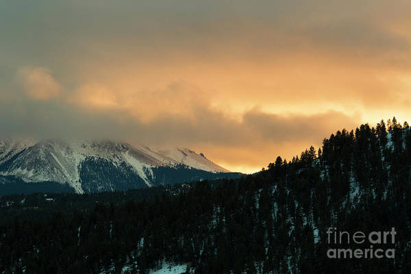 Photograph - Sunset Clouds On Pikes Peak by Steve Krull