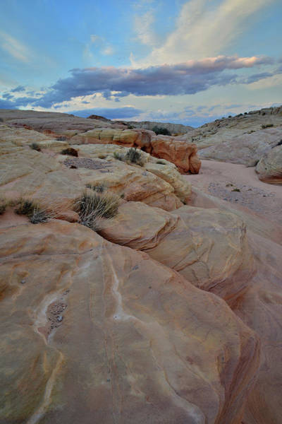 Photograph - Sunset Clouds Over Wash 2 In Valley Of Fire by Ray Mathis