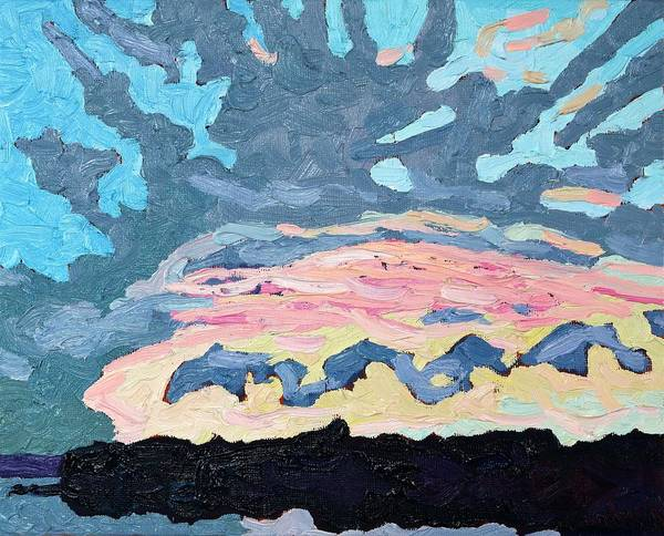Wall Art - Painting - Sunset Cold Front by Phil Chadwick