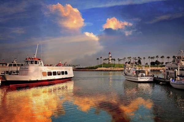 Photograph - Sunset Colors The Harbor by Lynn Bauer