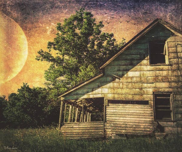 Photograph - Sunset Countryside Abandoned House by Anna Louise