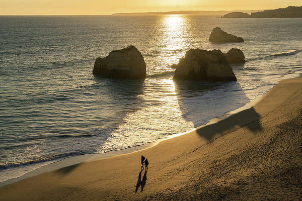 Photograph - Sunset Couple On The Three Castles Beach by Georgia Mizuleva