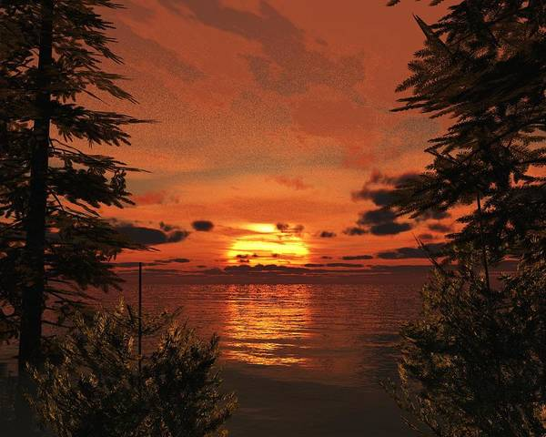 Ocean Scape Digital Art - Sunset Cove by Timothy McPherson