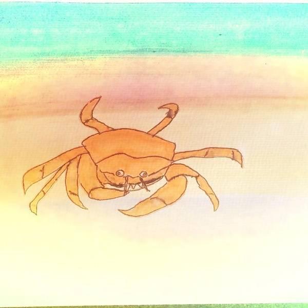 Wall Art - Painting - Sunset Crab  by Angelina Elliott