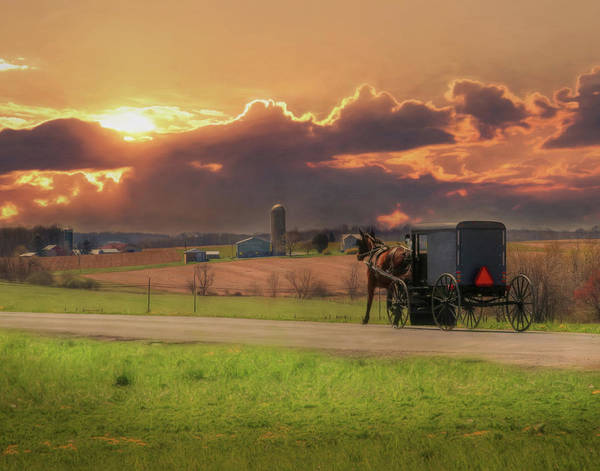 Amish Country Photograph - Sunset Cruise 2 by Lori Deiter