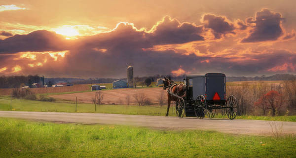 Amish Country Photograph - Sunset Cruise by Lori Deiter