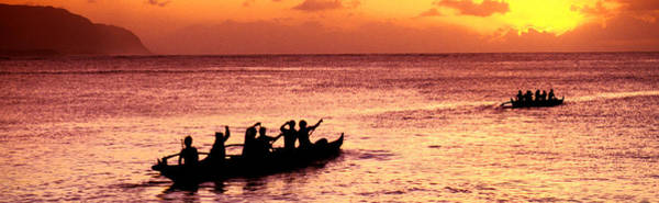 Outrigger Canoe Photograph - Sunset Cruise by Sean Davey