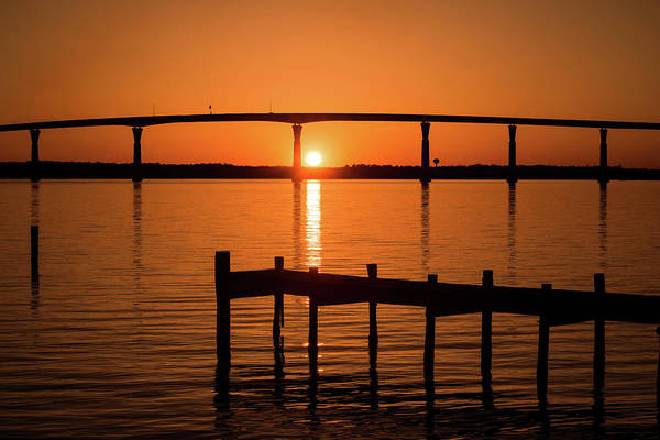 Photograph - Sunset-dock And Bridge by Don Johnson
