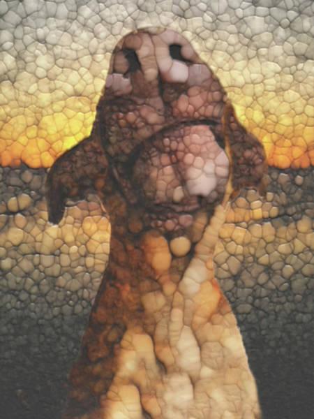 Pulling Painting - Sunset Dog by Jack Zulli