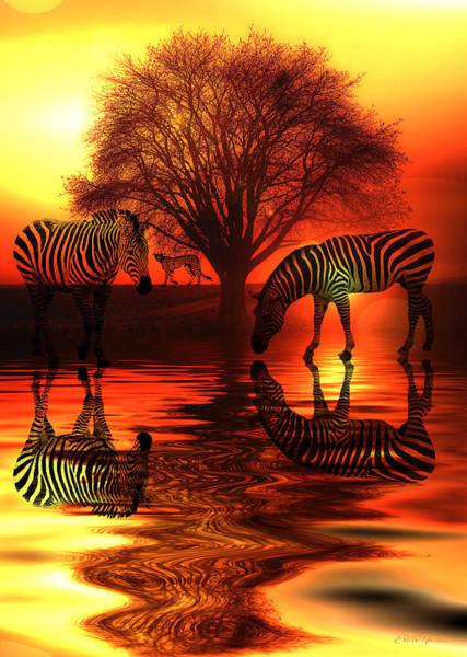 Digital Art - Sunset Drink by Ericamaxine Price