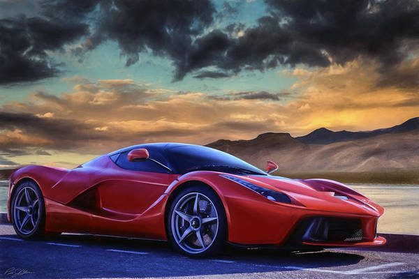 Drive Digital Art - Sunset Drive by Peter Chilelli